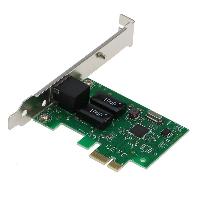 SEDNA – Adaptador Ethernet Gigabit, PCIE 10/100/1000 Mbps, tarjeta de red LAN con soporte de perfil bajo (Chipset Realtek 8111)