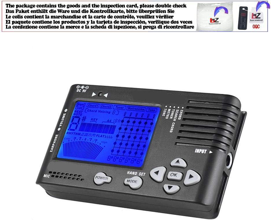 Sintonizador de guitarra digital 4 en 1 con forma de metrónomo ...
