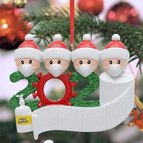 Haokanba Christmas Ornament 2020//XMAS Decorations 2020 Year to Forget Christmas Ornament 2020 Santa Claus Ornaments Covid/_Christmas Ornament Peace /& Happiness Decorations