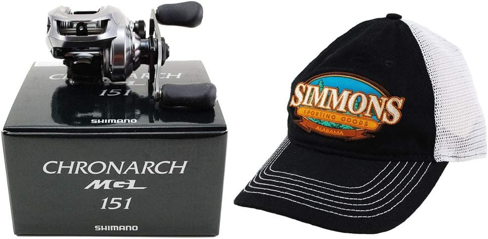 シマノ クロウッチ MGL 151 6.2:1 左手用 ベイトキャスト リール+帽子