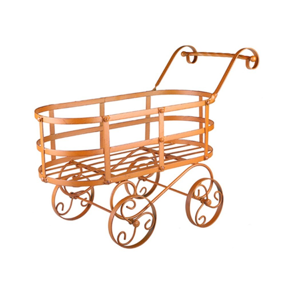 Creative personality garden balcony decoration / iron flower rack / wheel with removable