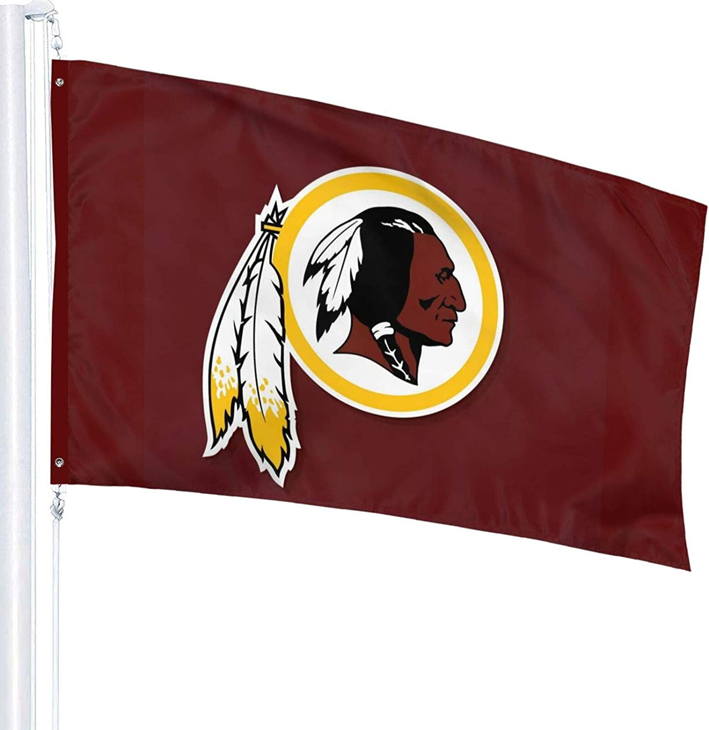 Design Washington Football Single Sided Banner Indoor and Outdoor Sports Flag with Grommets 3x5 Ft (Washington)