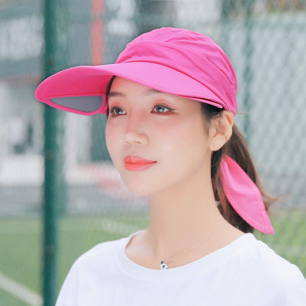 Maylisacc Sun Hat Visor Insert Sun Hat Women with Adjustable Size for Vacation and Outdoor Activities