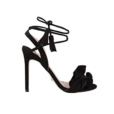1b26dec9d4d08 Tony Bianco Kalipso Heeled Sandals - with Slender Stiletto Heel and  Wrap-Around Self-Tied Straps