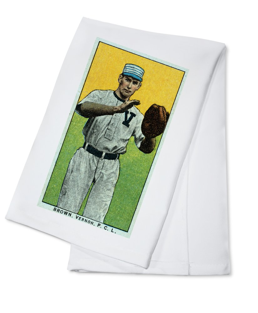 Vernon Pacific Coast League – ブラウン – 野球カード Cotton Towel LANT-23658-TL Cotton Towel  B0184BC4PA