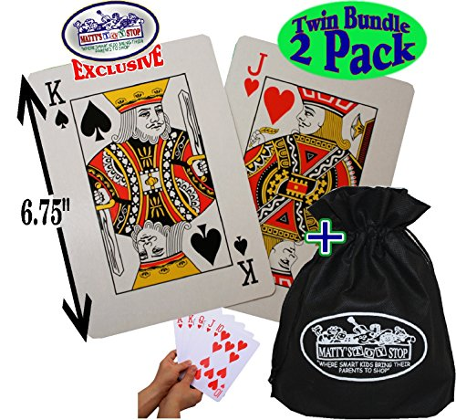 Matty's Toy Stop Large Novelty Playing Cards (6.75