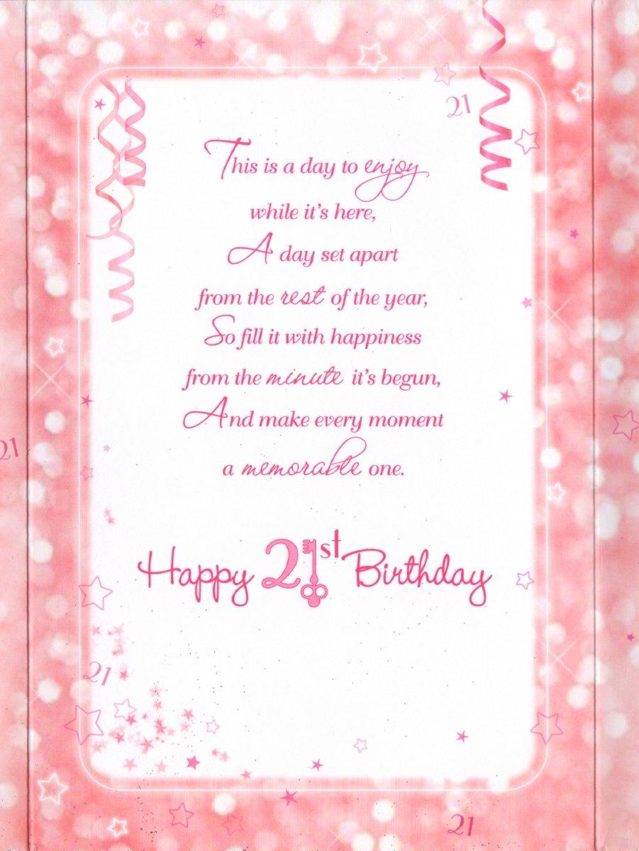 21st Birthday Card Congratulations On Your 21st Birthday – 21 Birthday Card