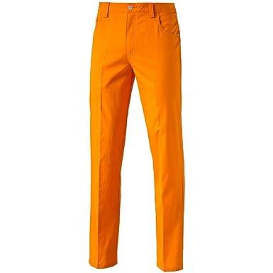 14142ef1fd2f Puma Golf 2016 Mens 6 Pocket Pant Golf Trousers 570763 - Vibrant Orange -  32-32  Amazon.co.uk  Clothing