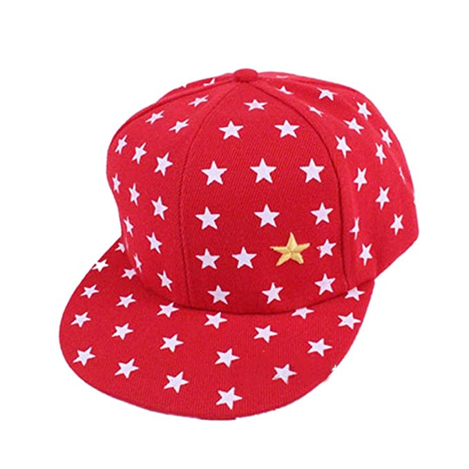 87fa6742034 Amazon.com  New Kids Baby Children Star Pattern Hip Hop Baseball Cap Peaked  Hat  Clothing