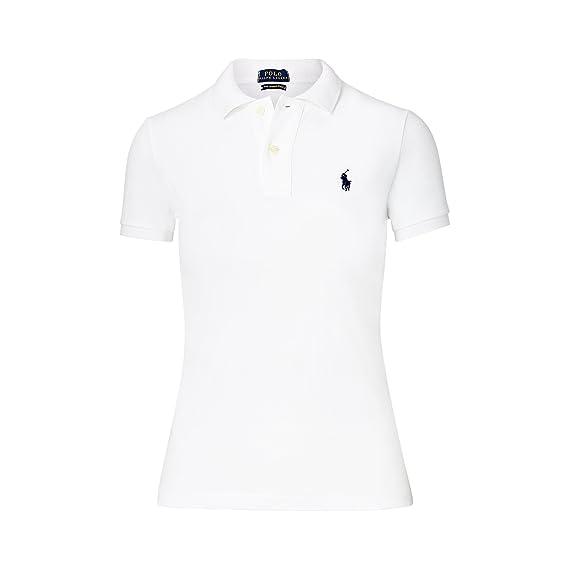 0147010fa0f2d7 Ralph Lauren Polo Damen Poloshirt The Skinny Polo  Amazon.de  Bekleidung