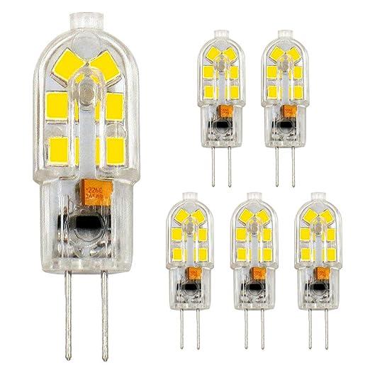 Amazon.com: Honle G4 LED Light Bulbs 2W AC/DC 12V JC Bi-Pin ...