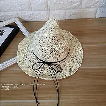 KWXHG Sombrero de Paja de Arco Sombrero de Chupete Plegable ...