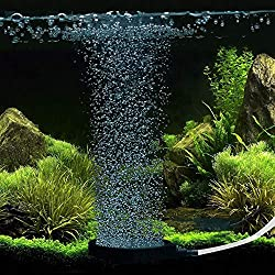Glumers Brand Micro Oxygen Bubble Diffuser Air Stone Stick Forever contious Smooth Bubbles with an air Control Valve, 100% High Qualitiy Very Good for Shrimps, Guppy, Tetra, Betta