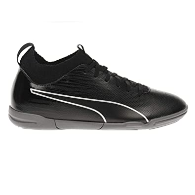 35fb34a61 Image Unavailable. Image not available for. Color  Puma Evoknit Indoor  Football Trainers Juniors Black Soccer Shoes ...