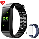 Fitness Tracker LEMFO Full Color Screen Activity Tracker Watch with Heart Rate Monitor Bluetooth Sleep Monitor Calorie Counter IP67 Swimming Waterproof Smart Bracelet for Android IOS Phone