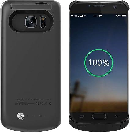 FUNROSE Galaxy S7 Le Coque de Batterie Amovible avec Rechargeable Externe Batterie Coque de Protection pour Samsung Galaxy S7 Noir