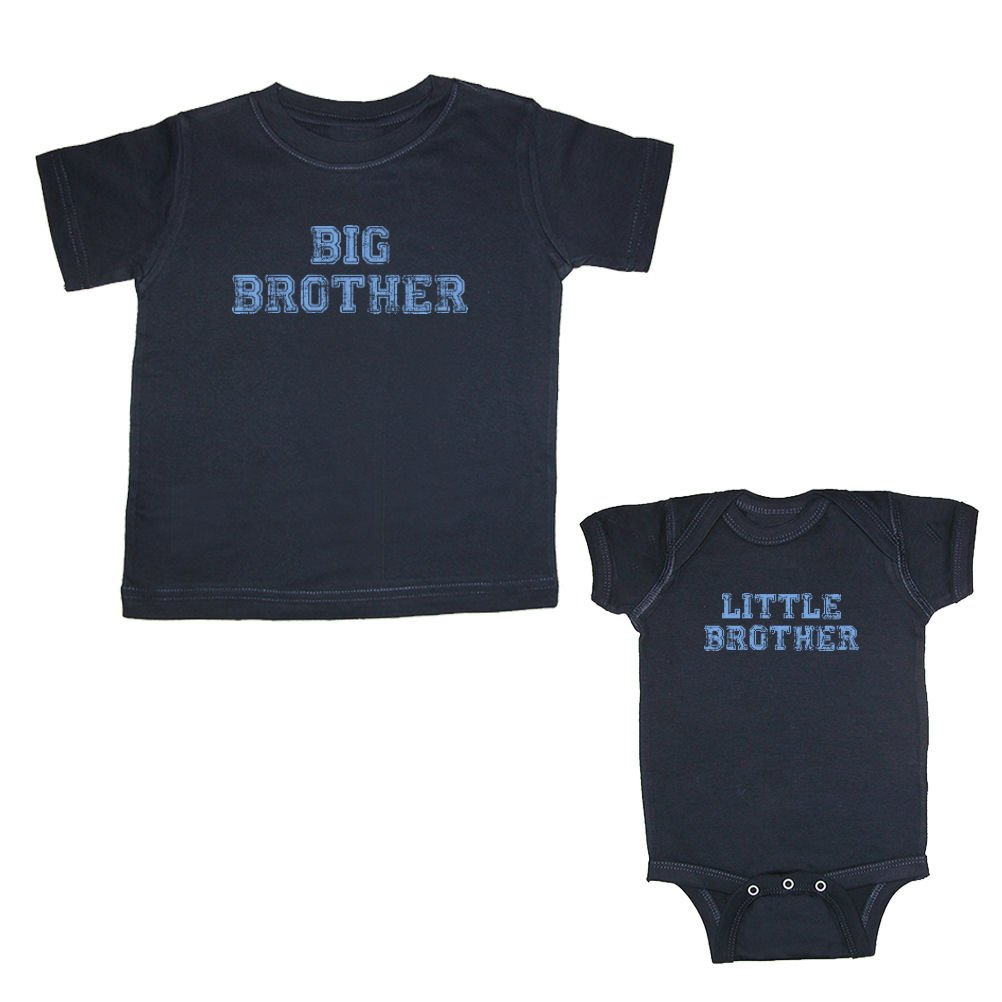 e5dc2f12b Big Brother & Little Brother (Distressed) Matching T-Shirt & Bodysuit:  Clothing