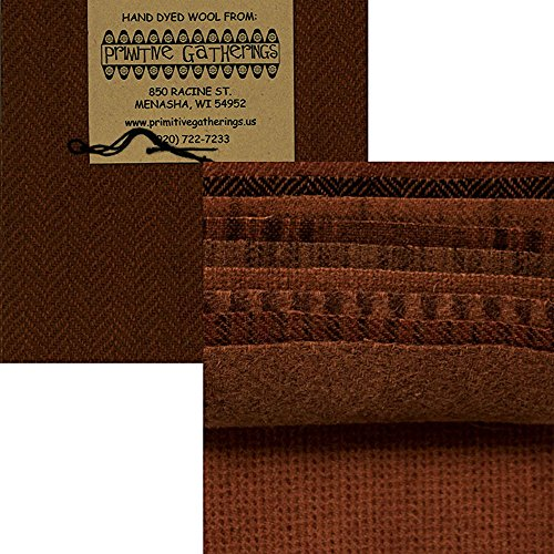 Fabric Glen Plaid (Primitive Gatherings Hand Dyed Wool Pumpkin Charm Pack 10 5-inch Squares PRI 6002)