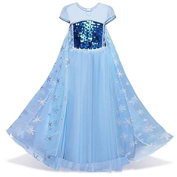 Disfraz de la princesa de la nieve Elsa para niña, de manga ...