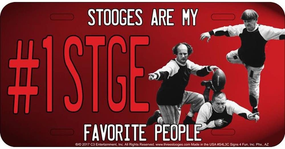 Signs 4 Fun S4L3C 3 1 Stooge License Plate