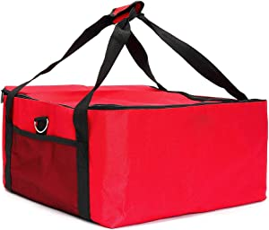16 Inch Pizza Bag, Extra Large Insulated Food Delivery Bags for Pizza Take Away Food Bag