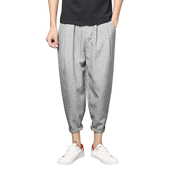 VPASS Pantalones Hombre, Pantalones Moda Pop Casuales Chándal de ...