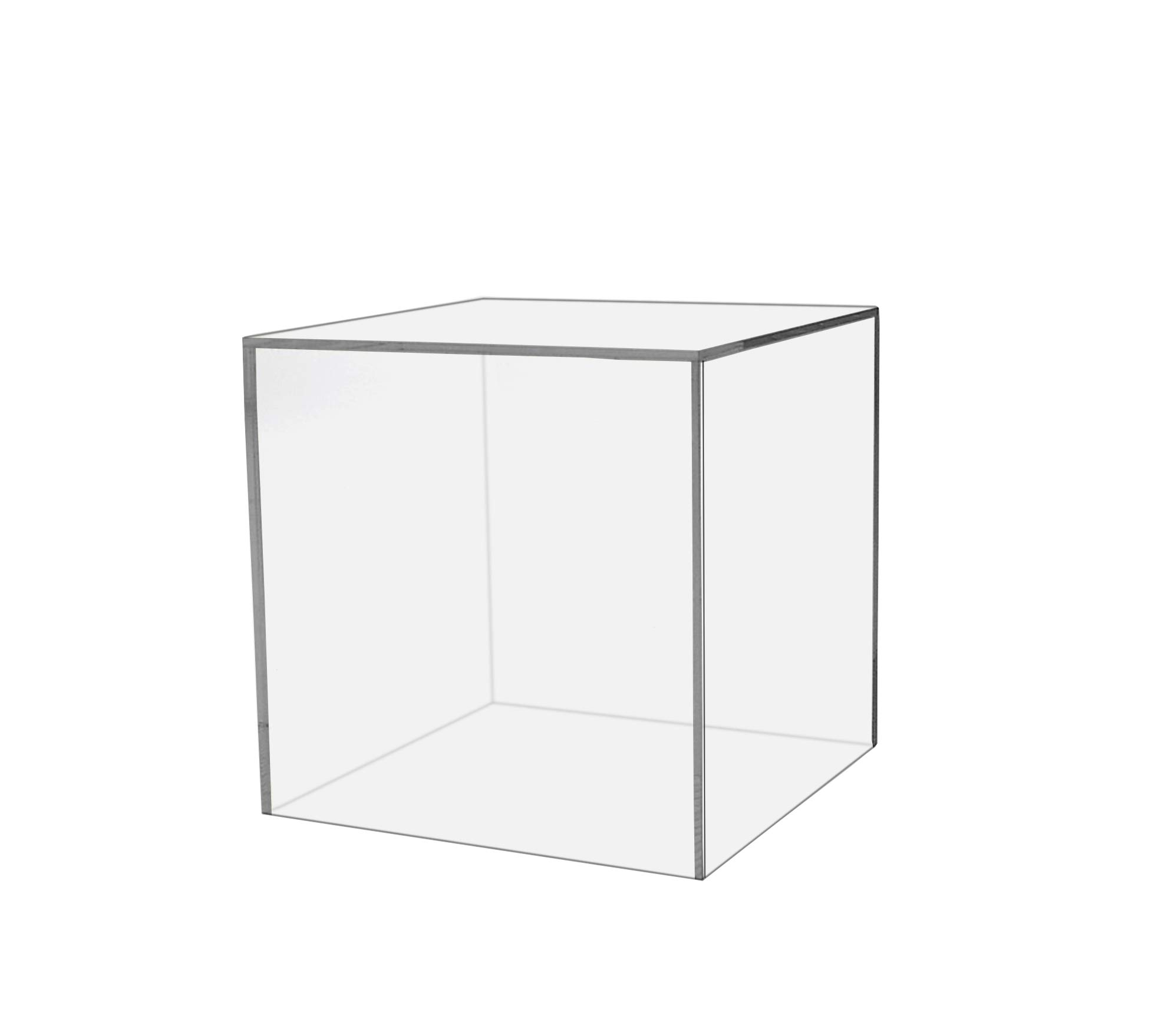 Marketing Holders Large Acrylic Display Box Cube Toys Trinkets Collectible Items Safety Dust Cover Acrylic 5 Sided Show Case Art Easel Pedestal Display (5, 10''w x 10''h) by Marketing Holders (Image #1)