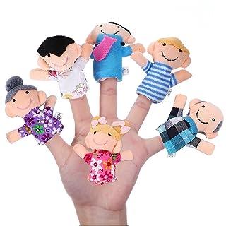Rocita 6 Pezzi di Marionette da Dito, Famiglia Felice Membro della Serie Puppet Set Toys Story-Telling Props