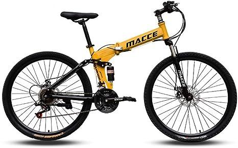 Bicicleta de carretera Bicicleta de montaña de metal Bicicleta de pista urbana plegable de 24 velocidades Cambio de 24 pulgadas Estudiantes masculinos y femeninos Amortiguador de choque doble Adul: Amazon.es: Deportes y