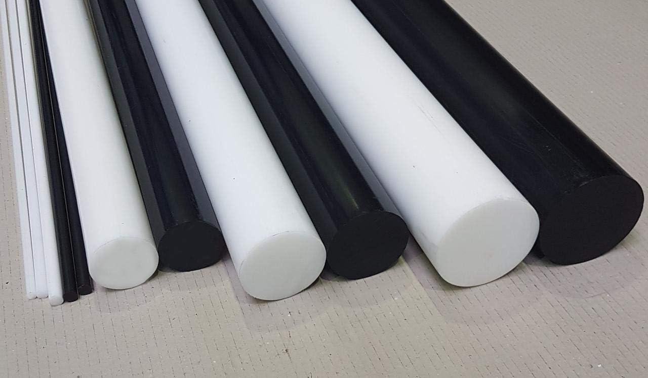 POM Rundstab Rundmaterial Kunststoff ⌀ 90mm L= 500-2000mm natur//wei/ß 1000 mm
