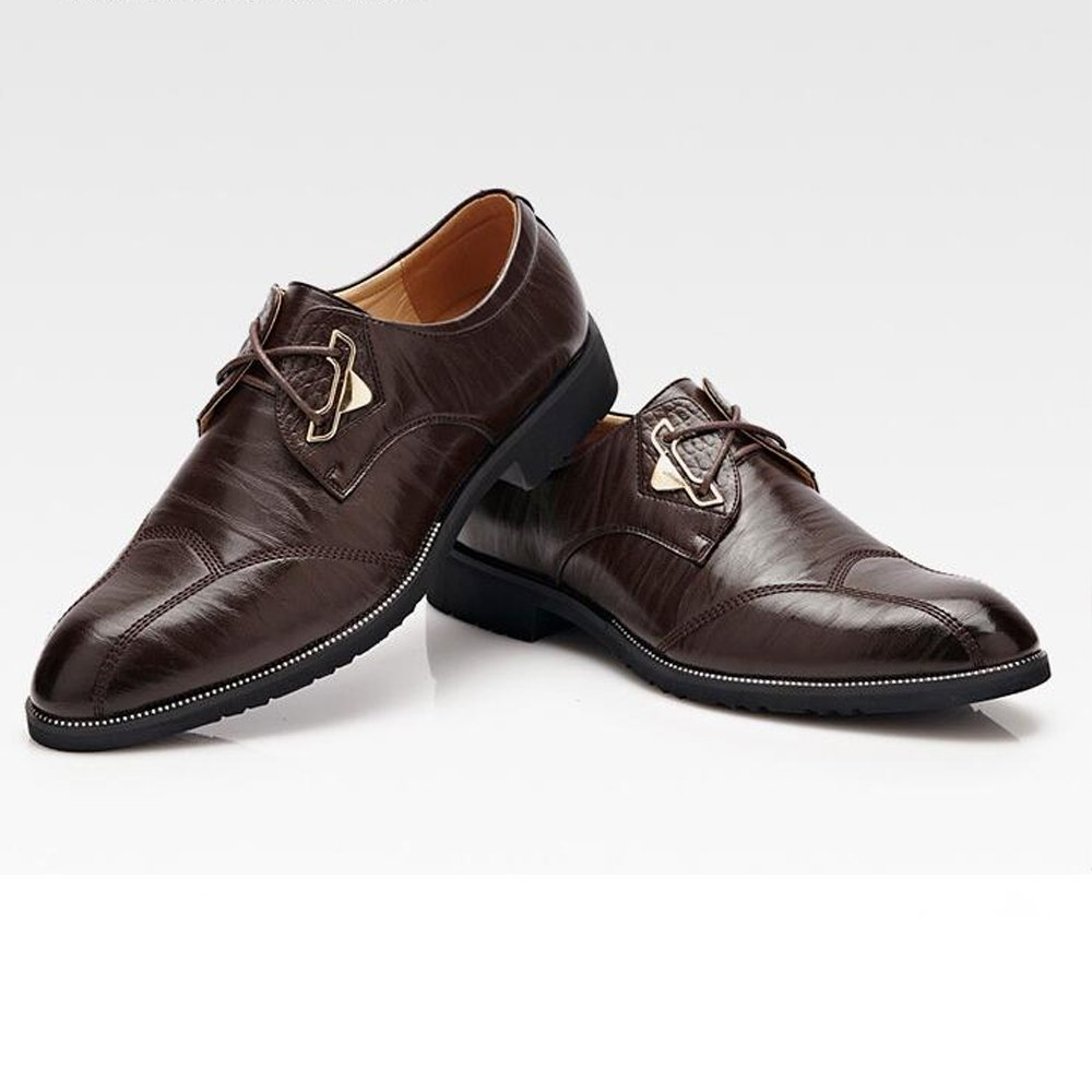 MXL Mens Business Formal Oxfords Split PU Leather Lace Up Wedding Dress Shoes Driving Shoes