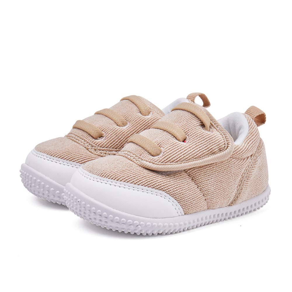 gb Infant Shoes Prewalker Baby Shoes Boy Girl Winter Warm Soft Sole Anti-Slip Toddler Sneaker Camel
