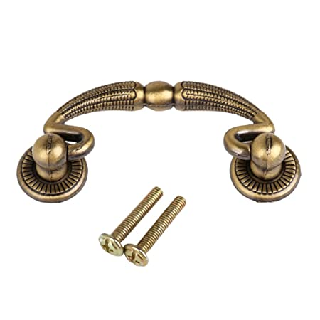 Antique Brass Cabinet Door Drawer Handles 62mm - Antique Brass Cabinet Door Drawer Handles 62mm: Amazon.co.uk: DIY