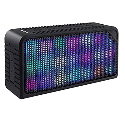 URPOWER Wireless Stereo Bluetooth Speaker with 7 LED Visual Modes and Build-in Microphone from URPOWER