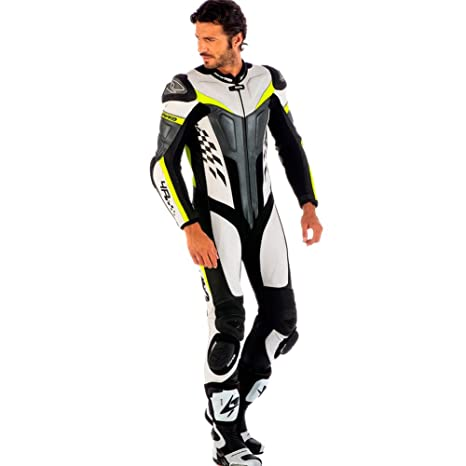 Amazon.com: Spyke 4RACE Rac Suits de piel para moto para ...