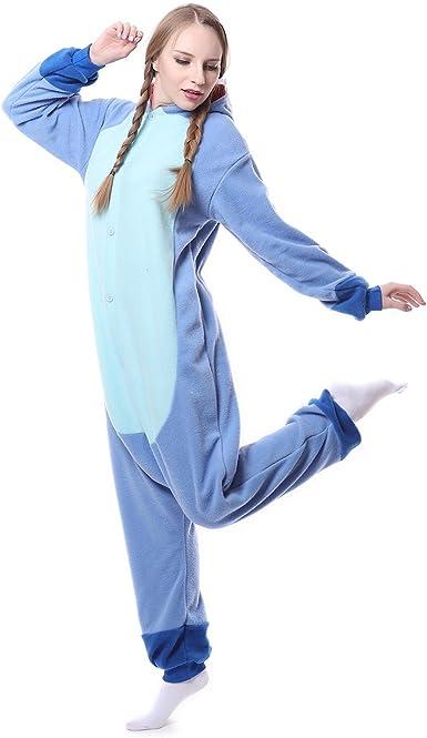 Blue stich Unisex Adult Pajamas Kigurumi Cosplay Costume Animal Sleepwear/'/'