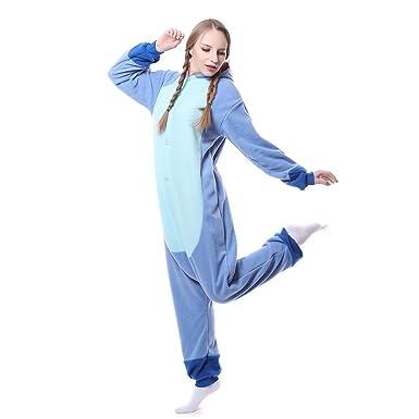 Unisex-adult Onesie Pajamas Kigurumi Stitch Animal Sleepwear for Halloween Party Costumes,Daily Cartoon