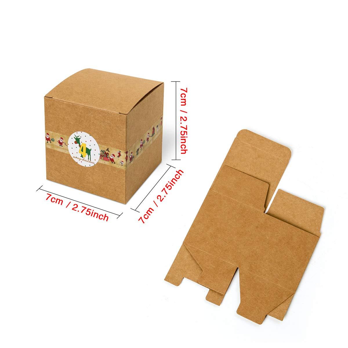 Cusfull Adventskalender Diy Set 24 Packpapier Boxen Zum Selber