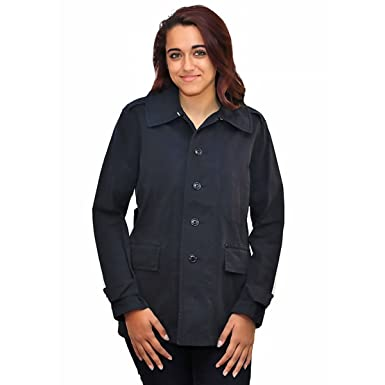 new products shop for authentic top-rated fashion Ralph Lauren Women's Short Trench Coat Jacket, Navy Blue ...