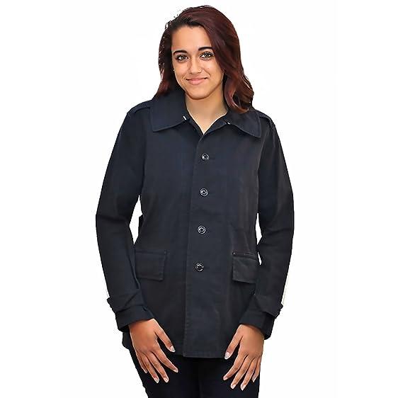 Ralph Lauren Women's Short Trench Coat Jacket, Navy Blue (Small ...
