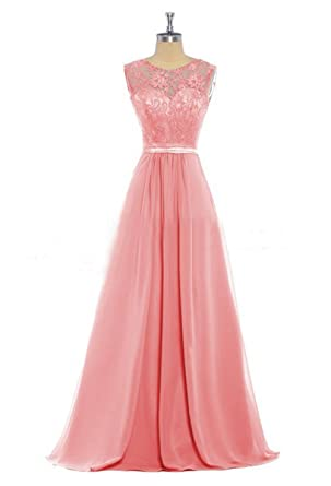 Yinhan Womens Lace Evening Prom Dress Chiffon Bridesmaid Dress Long