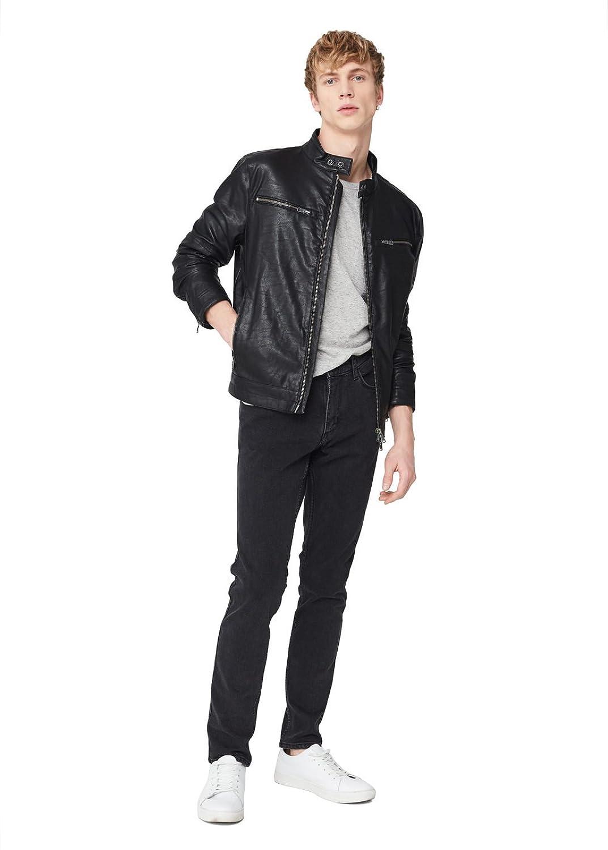 MANGO MAN - Zipped biker jacket