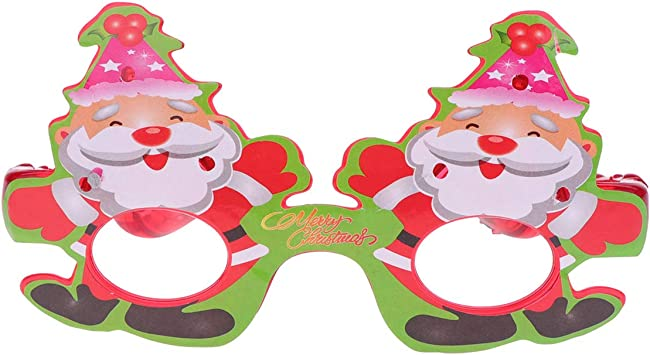 Amosfun 2pcs Christmas Picture Frame Ornament Snowman Mini Photo Frame Wooden Christmas Tree Decorations