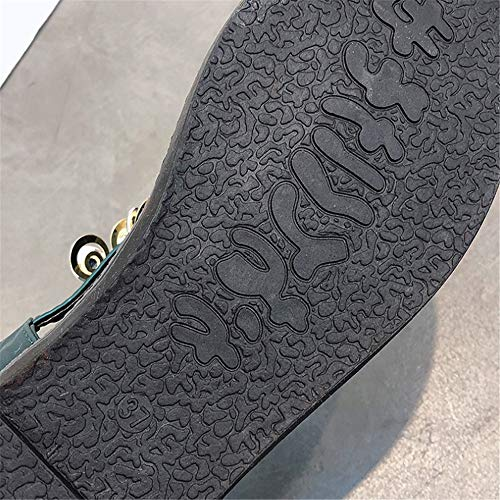 Sandalias Transpirables La del Zapatillas Pie De del Correa De La Zapatos Sandalias Playa Verde del De Rhinestone T Las Dedo Planas Verano De del Mujeres Bohemia Sandalias 4n4qar6