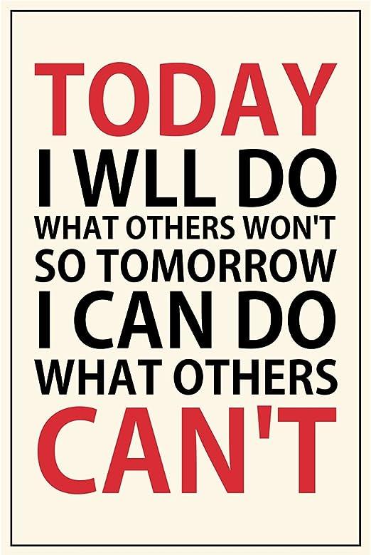 Amazon.com: meishe Póster con citas de inspiración frase Hoy ...