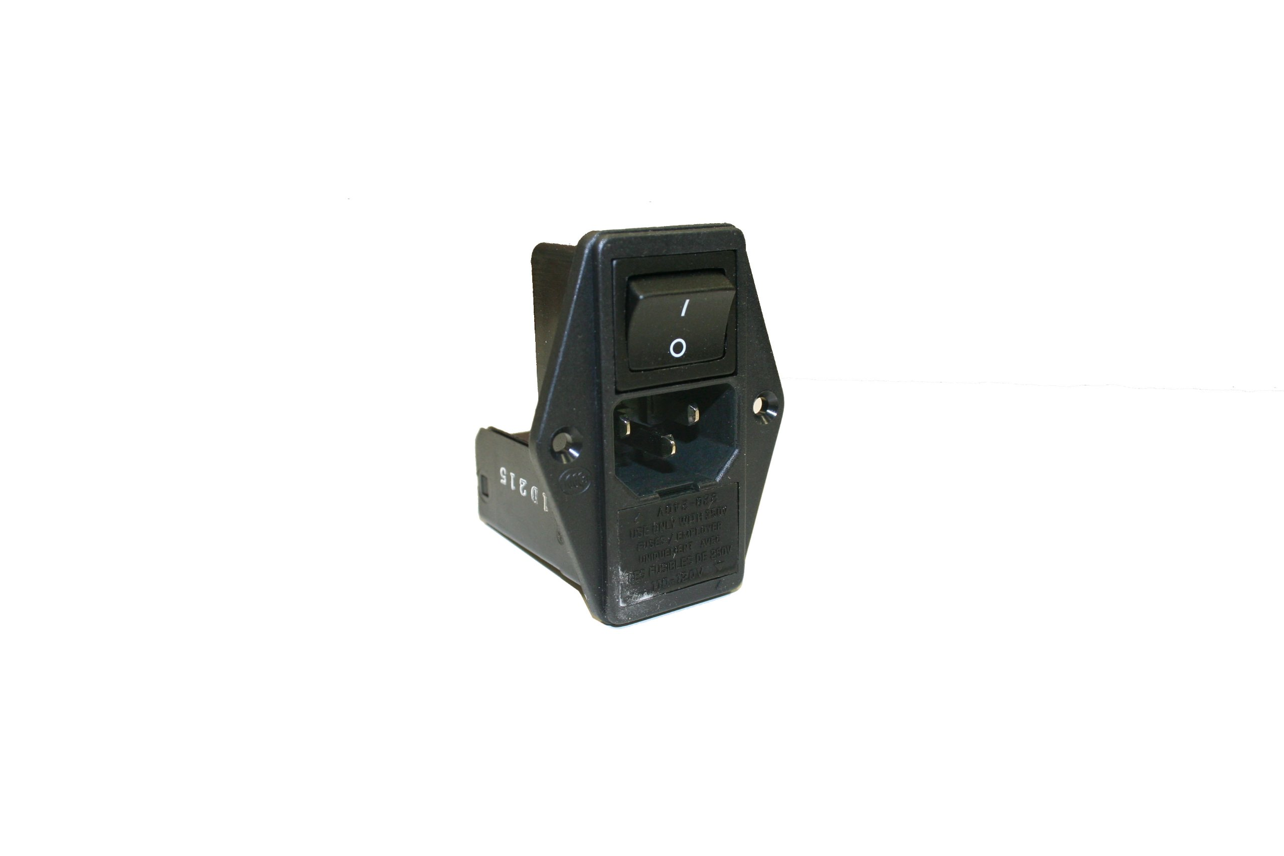Interpower 83511410 Four Function Power Entry Module, C14 Inlet, Switch, Fuse, Voltage Selector, 10A Current Rating, 250VAC Voltage Rating by Interpower