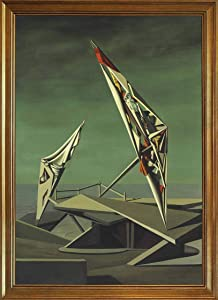Berkin Arts Kay Sage Classic Framed Giclee Print On Canvas-Famous Paintings Fine Art Poster-Reproduction Wall Decor(Ring of Iron Ring of Wool) #JK