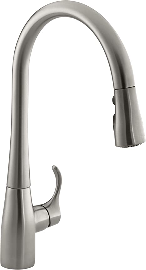 Kohler Simple high Arc Vibrant Stainless Colored Kitchen Faucets