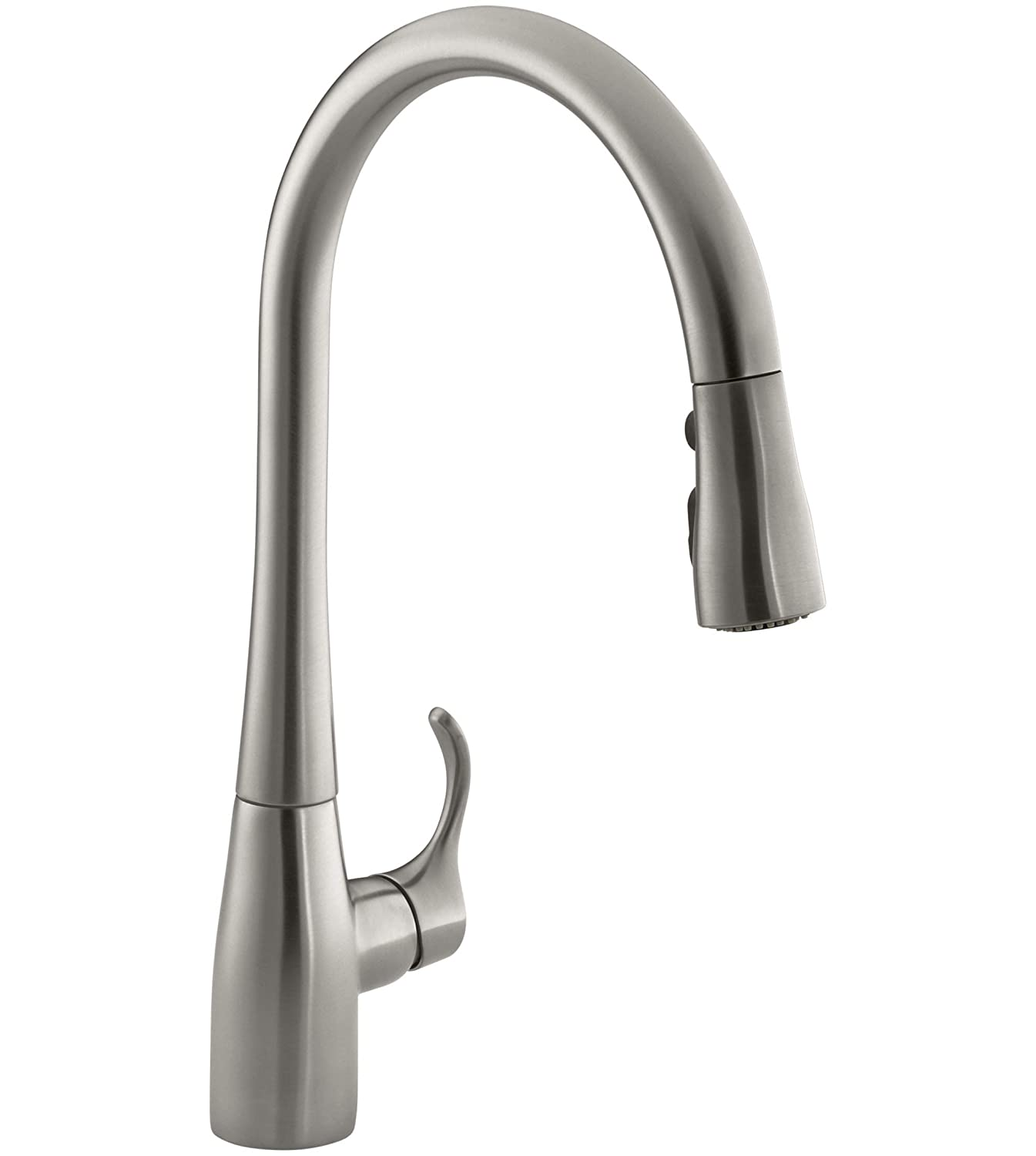 5. Kohler K-596-Vs Simplice High Arc Kitchen Sink Faucet