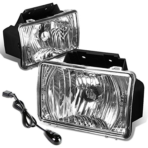 Chevy Colorado / GMC Canyon Pair of Bumper Driving Fog Lights + Wiring Kit + Switch (Clear Lens)